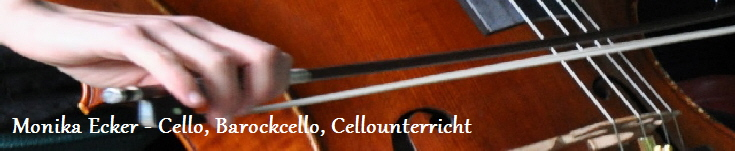 Monika Ecker - Cello, Barockcello, Cellounterricht